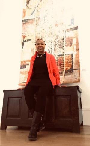 Audrey West at her Exhibition in Machnlleth